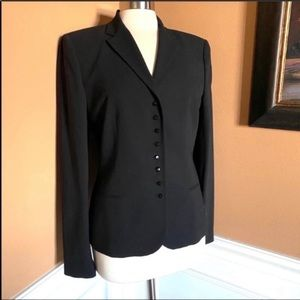 Lauren Ralph Lauren wool faceted button blazer 10